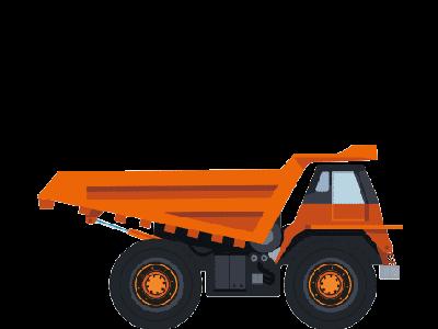 Camión, extravial dumper
